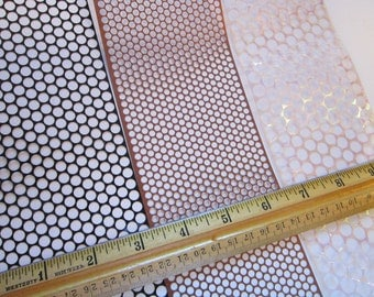 3 yards POLKA DOT stencil material - scrim - sequin waste - 1 yard each in THREE sizes - punchanella, punchinella