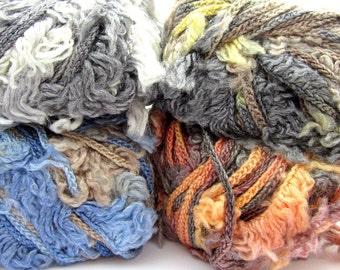 Lana Gatto Coimbra Yarn - Chunky Bulky Wool Blend Novelty Yarn - Choice of Colors