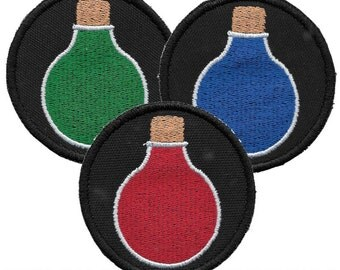 Potion Bottle Patch - Red, Blue, or Green