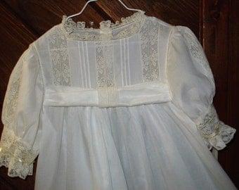 Heirloom dress size 7 white/ecru Communion Confirmation Wedding Flower girl Portrait Graduation