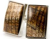 Highly Figured Hawaiian Koa Silver Cuff Links | Wooden Cufflinks | One of a Kind Cufflinks | 5th Anniversary | Fathers Day Gift Idea