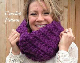 CROCHET PATTERN - Crochet Cowl Pattern, Crochet Scarf Pattern, Infinity Cowl Pattern, Circle Scarf Pattern, Infinity Scarf Pattern