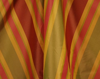 Solon Terra Cotta Silk Stripe Fabric