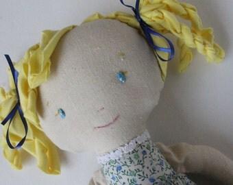 Tula - maylo studio Cloth doll, rag doll, handmade, OOAK, maylo, custom