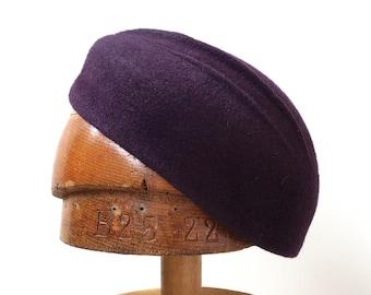 Women  Beret  Fur Felt Hand Blocked Women Hat Luxe Millinery 1930 style