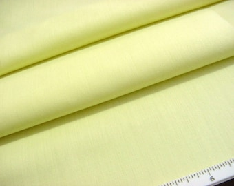 Vintage Solid Yellow Batiste Fabric -Soft Lightweight Great for Baby and Doll Dresses
