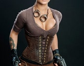 RUSH  Steampunk Vegan Leather Waist Cincher