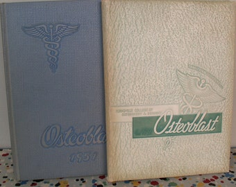 Two Vintage Kirksville College of Osteopathy and Surgery Osteoblast