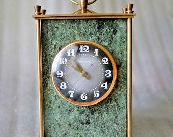 Vintage Russian Mechanical Clock - Molnija / Molniya - 1970s - from Russia / Soviet Union / USSR