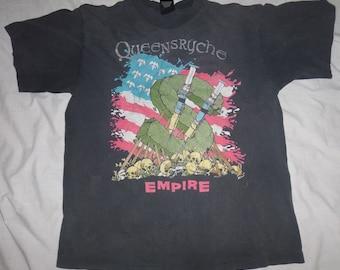 Vintage Queensrÿche Band Tour T-shirt Size XL Empire