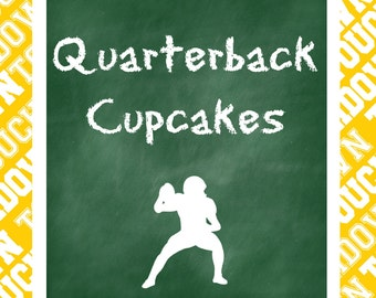 Football Theme Party Prints and Food and Drink Signs, Digital Download Set of 11