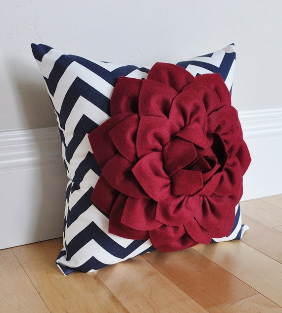 Red White and Blue -American Stripe Chevron Patriotic Pillow - Labor Memorial Day Pillows - 4th of July - Patriotic Pillows