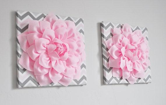 Blume wandbehang dekor dekor leichte rosa dahlie rosa von bedbuggs