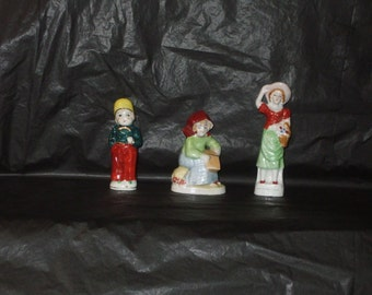 LOT Vintage Occupied Japan Ceramic People Figurines Colorful