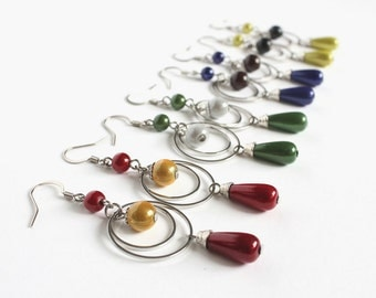 Wizarding House Color Dangling Earrings