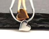 Valentine Necklace , Sterling Silver Necklace , Gold Necklace , Heart Necklace , Sweetheart Gift , Valentine Gift , Minimalist ,  Amy Fine