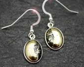 Gold Rush - Natural Magnetite and Pyrite Sterling Silver Earrings