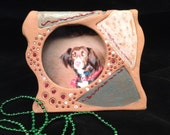 Picture frame/handmade frame/handmade picture frame/pottery picture frame/ceramic picture frame/ready to ship/