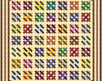 """NEW - GENEVIEVE - 114""""x 114"""" Large King or 101""""x 101"""" King - Quilt-Addicts Pre-cut Quilt Kit or Finished"""