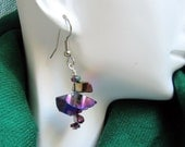 Purple themed and edgy earrings