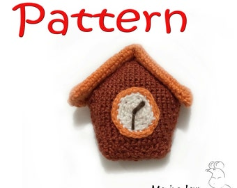 Crocheted Wall Clock – pattern/tutorial for crocheted amigurumi
