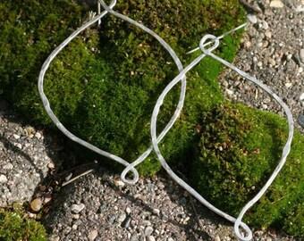 Large Signature Loopy Hoops Hammered Sterling Silver Hoop Earrings