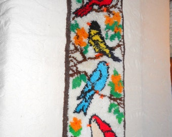 Bird Design Rug Etsy