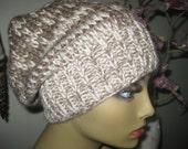 wool merino blend oatmeal beige ivory slouchy knit hat
