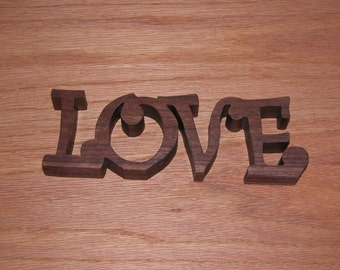 Love - Home Decor Wooden Sign for Your Desk, Shelf or Table - Gift Idea