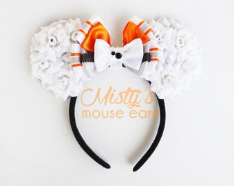 Inspired BB8 Rose Mouse Ears
