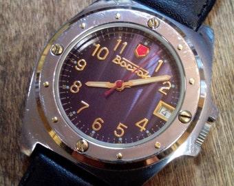 25% OFF ON SALE Mens watch Vostok, vintage watch, watch, soviet, men's watch, wrist watch, black watch