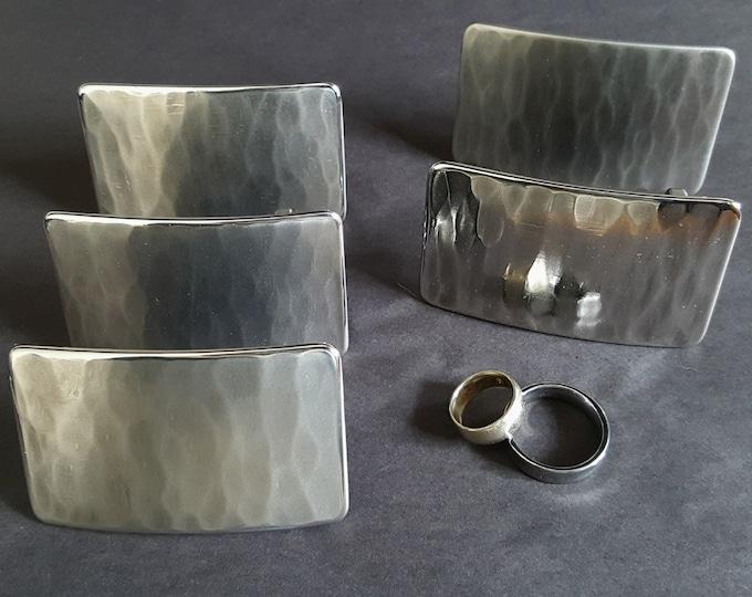 "Groom - Groomsmen's Wedding Belt & Buckle SET Hypoallergenic Accessories Hand Forged Woodgrain Buckle Stainless Steel  Buckle and 1.5"" Belt"