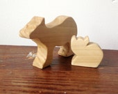Polar Bear Animal Block Set, Narwhal Orca Seal Arctic Ice Berg, Wood Children's Play Set, Early Learning Toys, Waldorf