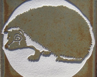 Hedgehog - 4x4 Tile Coaster