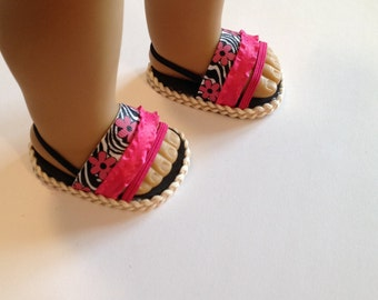 NEW! One pair of sandals, made to fit 18 inch doll