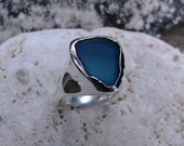 Sea Glass Beach Glass Ring