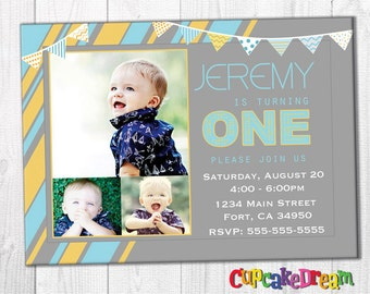 First Birthday Invitations, Boy Birthday Party