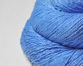Clear summer sky - Silk Noil Lace Yarn - LIMITED EDITION