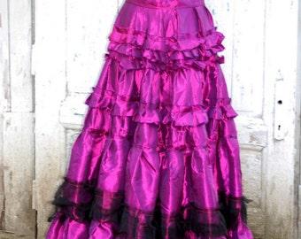 Skirt, victorian, steampunk, Mina Harker, Dracula, Long skirt, whide skirt, ruffle skirt, alternative wedding, vintage style,diva, drama,