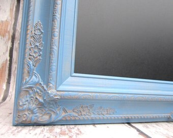 "LARGE CHALKBOARDS For Sale 44""x32"" French Blue Wedding French Country Decor Blue Framed Chalkboard LaRGE Home Decor Dining Room"