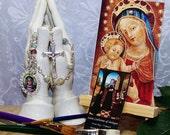 Unbreakable Catholic Chaplet of St. Catherine of Bologna - Patron Saint of Artists - Catholic Gift