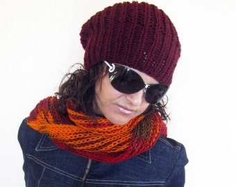 CLEARANCE SALE - 50% OFF- Knit Hat /  Chunky Hat /  Knit Beanie / Rts / Sale