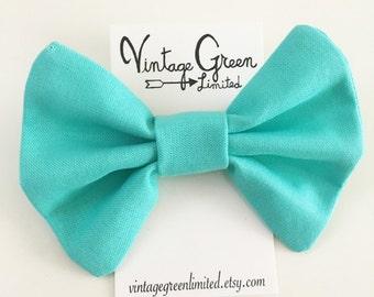 Solid Turquoise Mint Baby Bow Headband, Headband Bow, Pink, Toddler Bow, Photo Shoot, Nylon Head band, Girl's Hair Clip