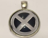 X-Men Symbol Necklace - 25mm Glass Pendant - Merry Mutants