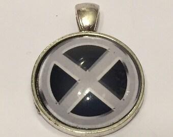 X-Men Symbol Necklace - 25mm Glass Pendant - Merry Mutants