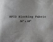 RFID Blocking Fabric, EMI Shielding  for Wallets Lining, Purse lining, Pocket Lining 36 by 44 inches