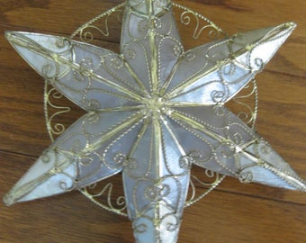 Capiz Shell Unlighted Christmas Tree Topper