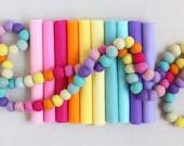 Wool Felt // Pot of Gold Palette // Wool Blend, Merino Felt Sheets, Rainbow Felt, Colorful Felt Palette, Pink Felt, Purple Felt, Yellow Felt