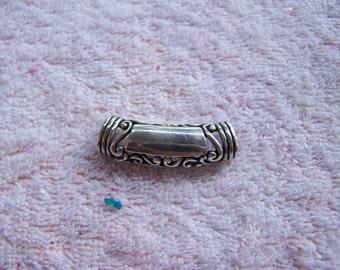 Sterling Silver Ornate Engravable Openback Slide Pendant for Necklace
