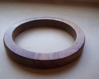 Thick Wood Bangle Bracelet
